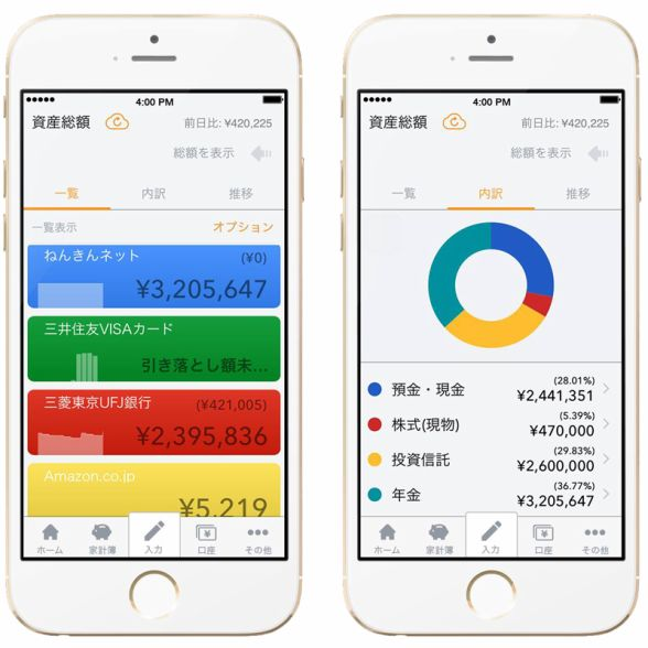 最新の家計簿アプリ